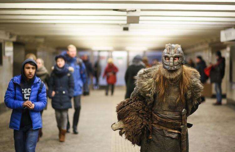 На станции метро «Сретенский бульвар» появились викинги
