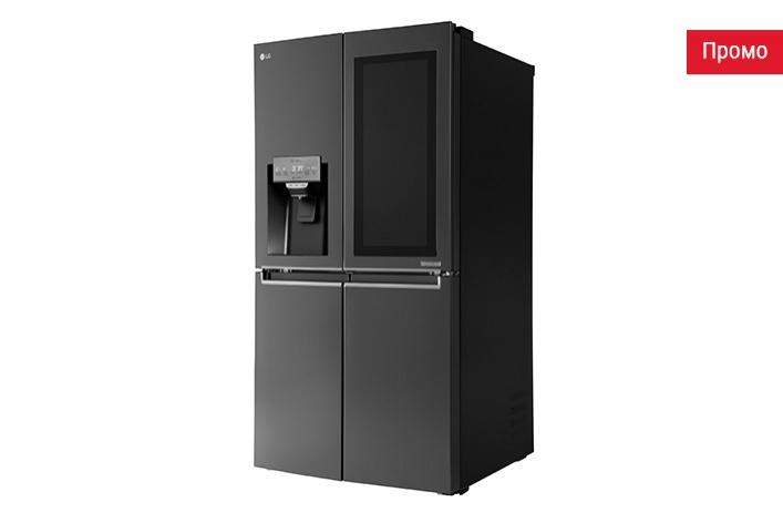 Холодильник LG Smart InstaView на OC webOS с голосовым управлением и дистанционным видеонаблюдением