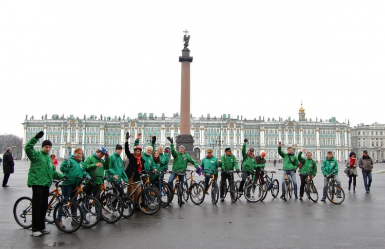 В центре Петербурга появится первая велодорожка