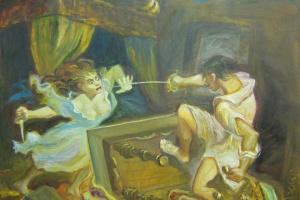 Выставка Виктора Тихомирова «Схватка Д'Артаньяна и Миледи»