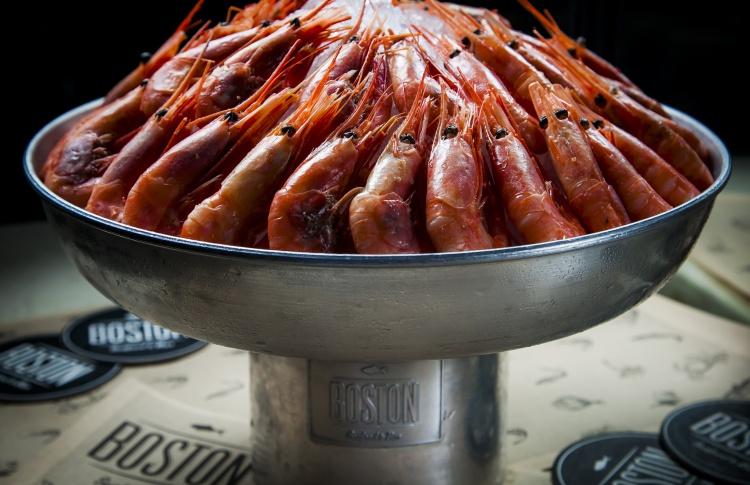 Скидка на креветки в Boston Seafood & Bar на Павелецкой по выходным