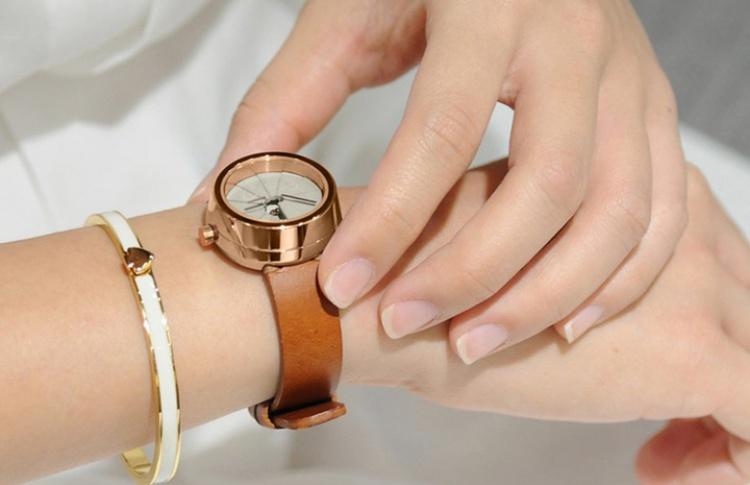 Надо брать: Часы с бетонным циферблатом 4th Dimension Tea Time