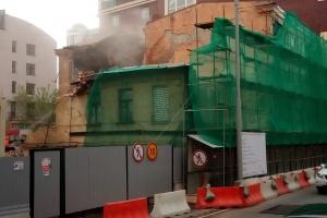 В Пожарском переулке снесли двухэтажный исторический дом