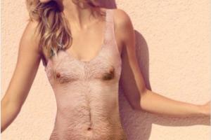 Производитель одежды из США выпустил купальник с принтом волосатой груди