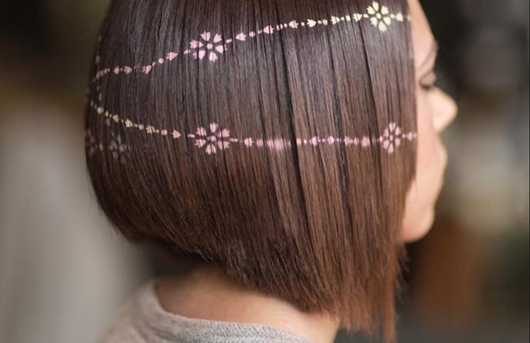Тенденции: Трафаретное окрашивание волос