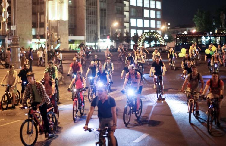 В ночном велопараде в Москве примут участие 20 тысяч велосипедистов