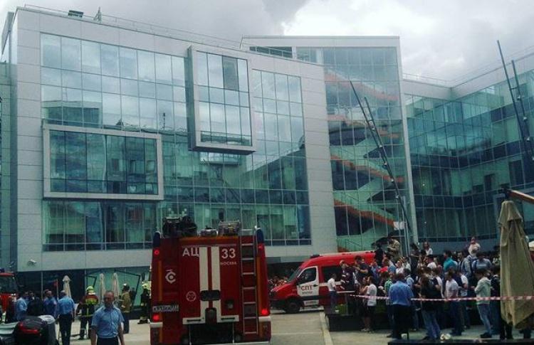 В Москве загорелся главный офис «Яндекса»