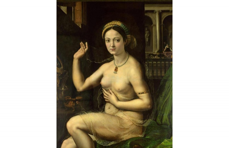Джулио Пиппи, прозванный Романо. «Дама за туалетом, или Форнарина», начало 1520-х