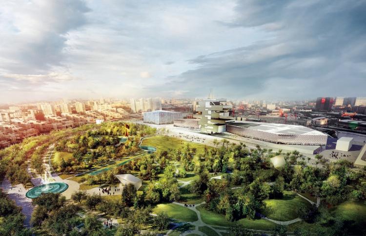 Власти Москвы начали строить парк на Ходынском поле