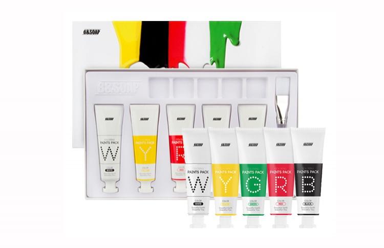 Набор масок для лица Coloring Paints Pack, B&Soap