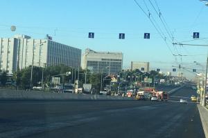 Варшавское шоссе частично перекрыто из-за аварии