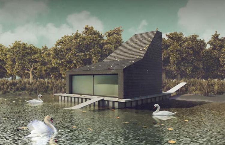 Парку Горького пригодился  домик для лебедей за4 млн руб.