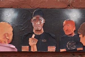 Уличный художник Hioshi посвятил работу баттлу Оксимирона и Гнойного