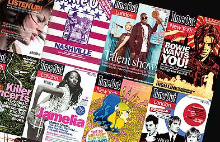 Выставка обложек международного журнала Time Out