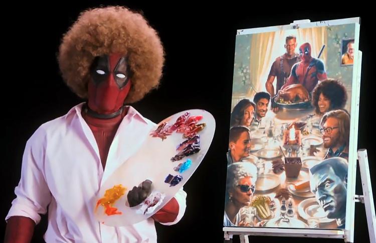 Тизер второго «Дедпула» спрятали в пародии на ТВ-шоу художника Боба Росса