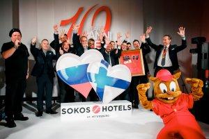 Сеть Sokos Hotels St.Petersburg отпраздновала десятилетие