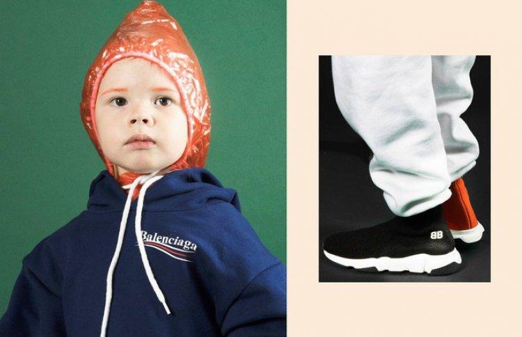 Balenciaga показали первую детскую коллекцию