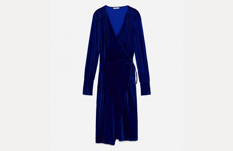 Платье из бархата Zara