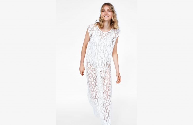 Прозрачное кружевное платье Zara