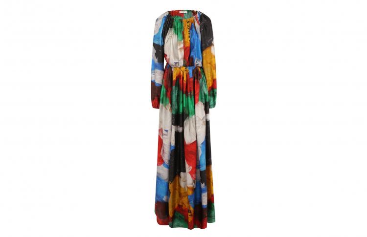 Платье с «мусорным» принтом