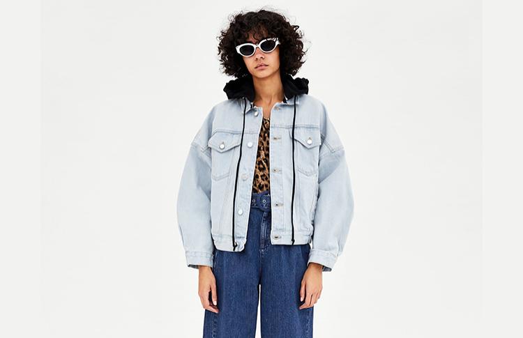 Джинсовая куртка с капюшоном Zara