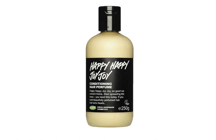 Кондиционер для волос Happy Happy Joy Joy с миндальным молочком, маслом жожоба, розовой водой и водой цветков апельсина, Lush