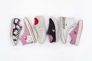 Sanrio совместно с Converse выпустили коллабарацию Hello Kitty