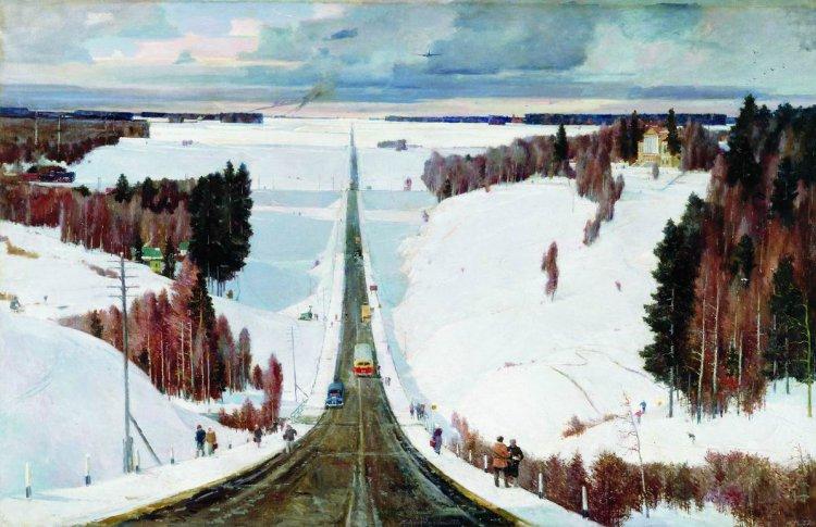 Советский художник с триумфом возвращается в Москву