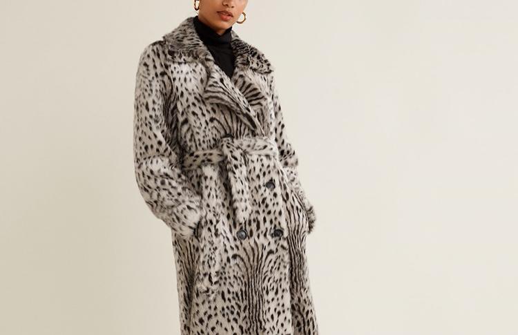Пальто из искусственного меха Mango