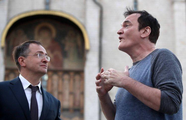 Мединский провел экскурсию для Тарантино по Кремлю