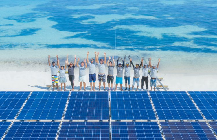 Крупнейшая в мире плавающая эко-система появилась на Мальдивах