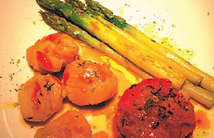 Мясо с фуа-гра в Michael's