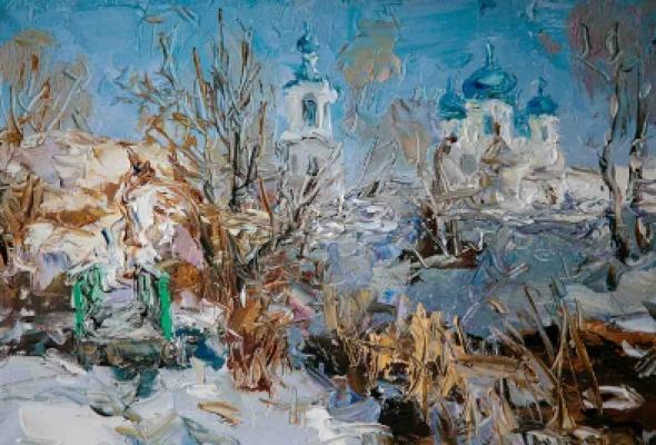 "Туман Жумабаев ""Снег Древней Руси"" - Фото №0"