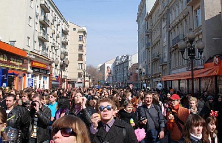 «Марш мыльных пузырей» наАрбате (фото)