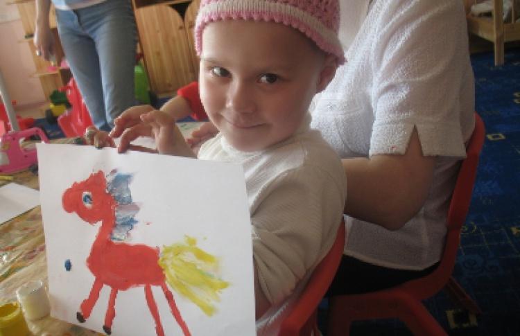Благотворительная выставка тяжелобольных детей