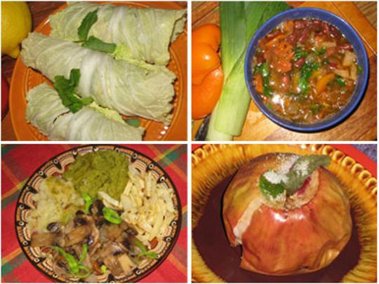 Обедаем в пост, постный обед, рецепты: постные рецепты, овощной салат, ассорти Четыре вкуса, постная фасолевая...
