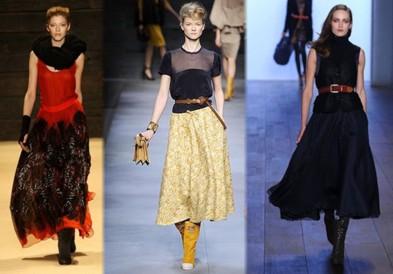 модные юбки осень 2012 фото для полных.