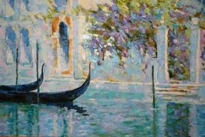 Пишем Венецию с помощью мастихина