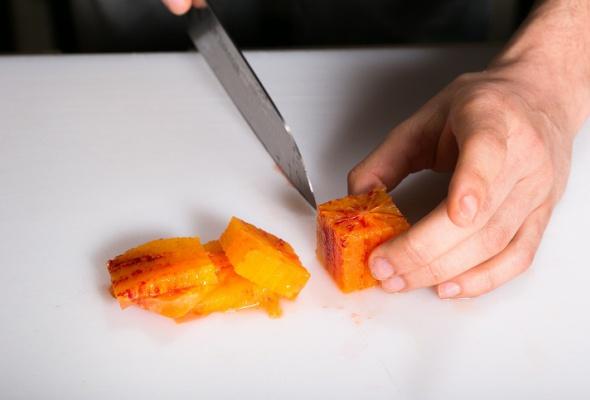 Севиче изчилийского сибаса скровавыми апельсинами имороженым изкаракатицы - Фото №8