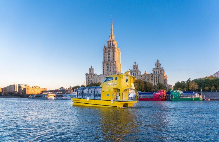 В Москве появилась флотилия разноцветных речных трамвайчиков