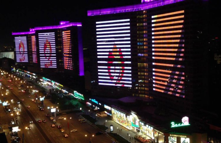 На домах Нового Арбата включат подсветку к 4 ноября