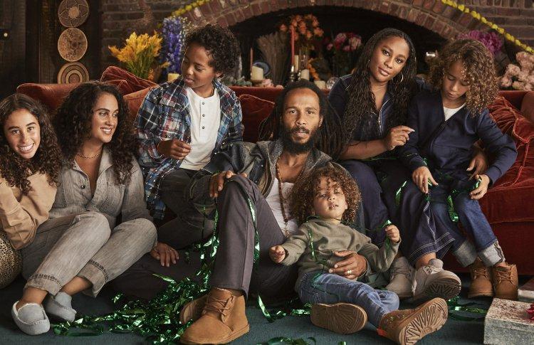 Зигги Марли и его семья снялись в праздничной кампании для UGG
