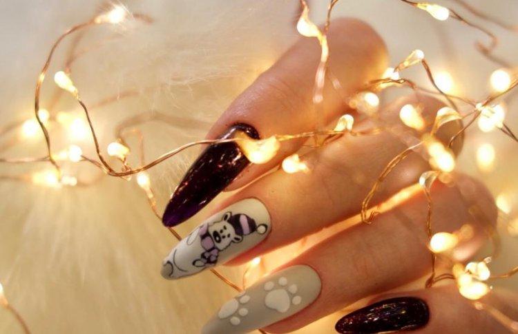 Дизайн ногтей, актуальный в новогоднюю ночь