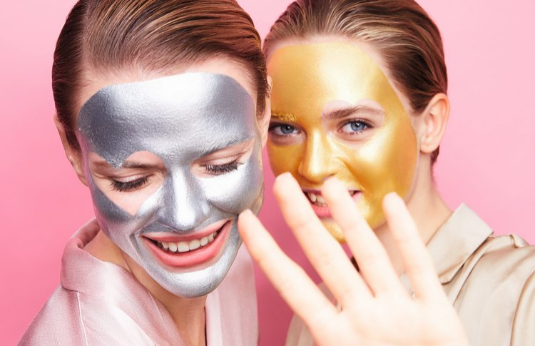 Искрящиеся маски для лица и настроения